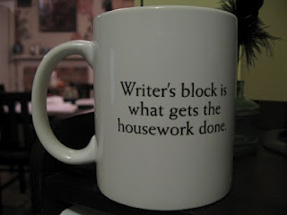 Writer's block is what gets the housework done. #writing