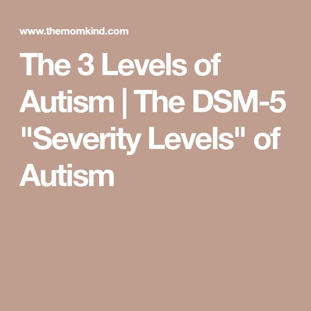 "The 3 Levels of Autism | The DSM-5 ""Severity Levels"" of Autism"