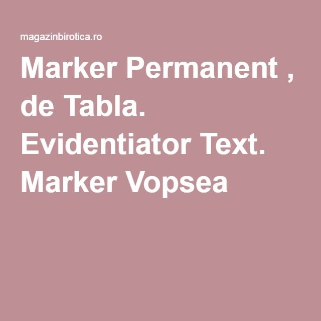 Marker Permanent , de Tabla. Evidentiator Text. Marker Vopsea