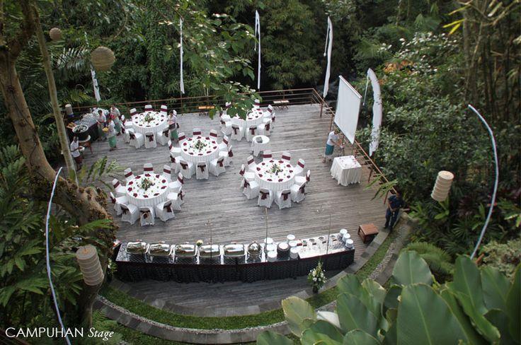 Wedding reception at Campuhan stage Wanasmara complex Komaneka at Bisma Ubud - Bali Indonesia. see komaneka.com