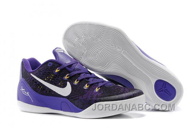 http://www.jordanabc.com/nike-kobe-9-low-em-black-court-purplewhite-for-sale.html NIKE KOBE 9 LOW EM BLACK/COURT PURPLE-WHITE FOR SALE Only $87.00 , Free Shipping!