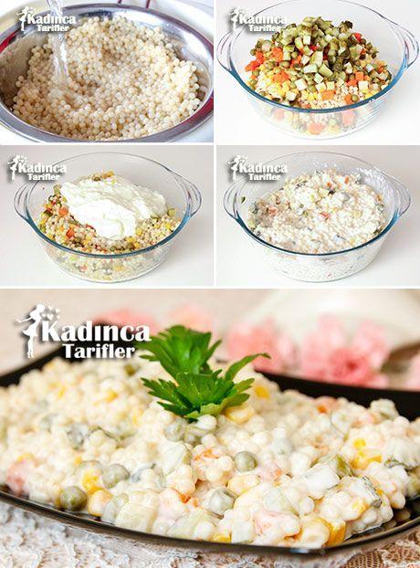 Garnitürlü Kuskus Salatası Tarifi