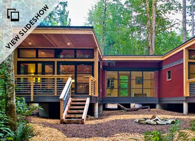You may not be ready to move into a 100-square-foot trailer, but in this day and age, it's not unheard of to seek out beautiful housing solutions that save space, energy, materials and, well, money.
