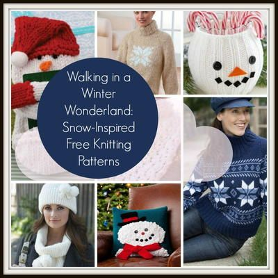 Walking in a Winter Wonderland: 19+ Snow Inspired Free Knitting Patterns | This collection of free knitting patterns is all about snow!