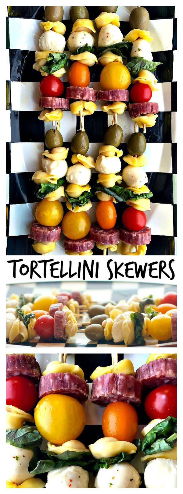 Tortellini Skewers are a delightful party appetizer, potluck dish, or game day snack!