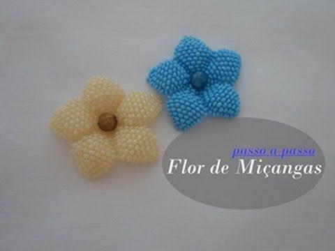 NM Bijoux - Flor de Miçanga - passo a passo - YouTube