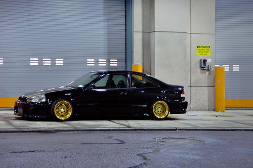 Klutch Wheels SL-1 24k Gold on Vraceworks Honda Civic Coupe