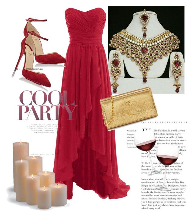 PARTY for VIP by tanya-dayal on Polyvore  style : Christian Louboutin , Yves Saint Laurent , Frontgate Nordstrom fashion clothing