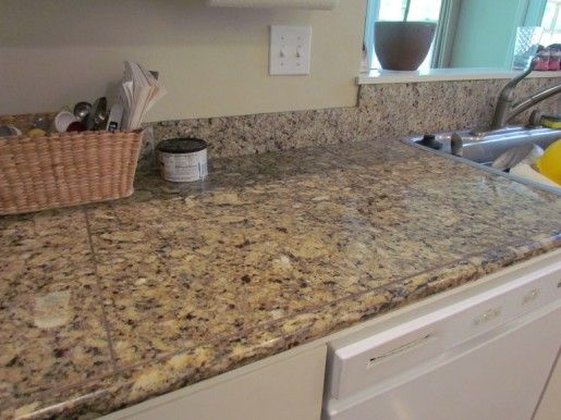 Granite tile countertop no grout roselawnlutheran for 3 4 inch granite countertops