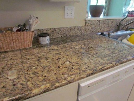 Granite Tile Countertop No Grout Roselawnlutheran