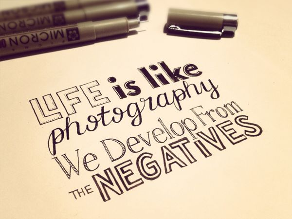 we develop from the negatives