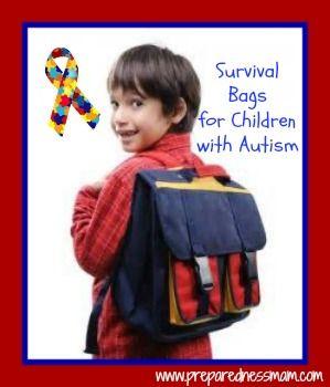 Survival Bags for Children with Autism - PreparednessMama