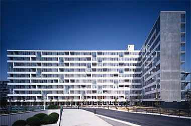 gifu kitagata apartments , gifu, japan (1994-2000)  kazuyo sejima & associates