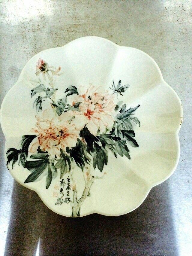 瓷盤(花鳥畫)