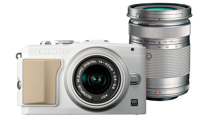 Olympus PEN Lite E-PL5 Compact System Camera with Twin Lens Kit - White from Domayne Online