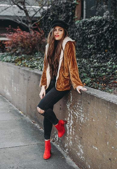 Get this look: http://lb.nu/look/8928559  More looks by Indiefoxx: http://lb.nu/indiefoxx  Items in this look:  Aldo Boots, Gypsylosangelos Fuzzy Coat, Asos Newsboy Hat   #bohemian #casual #retro #vintage #red #redboots #aldo #coat #teddy
