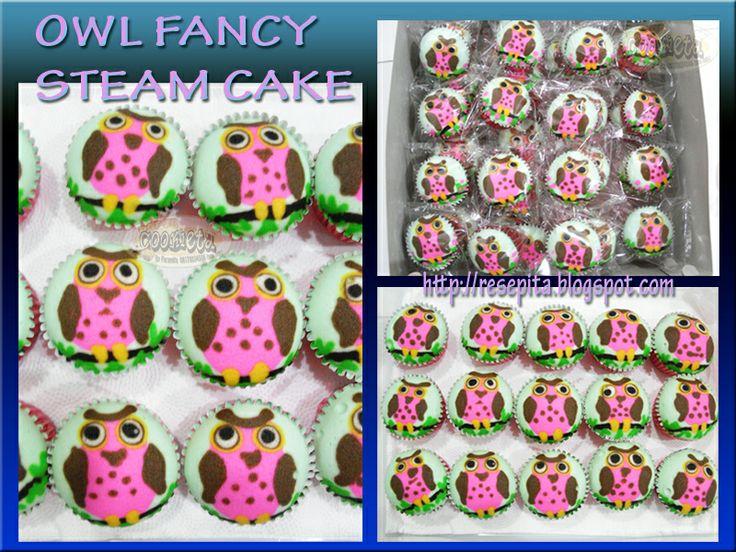Owl Fancy Steam Cake