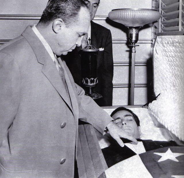 Mickey Cohen at Johnny Stompanato's funeral