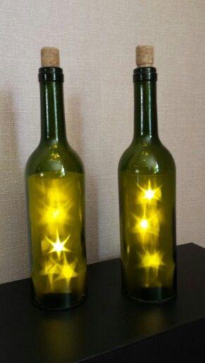 Leuke wijnflessen met verlichting