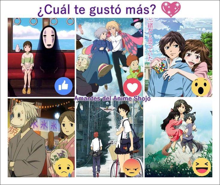 Peliculas: El viaje de Chihiro; El Castillo Vagabundo; Hal; Hotarubi no Mori E; La chica que saltaba a través del tiempo; Niños lobo.