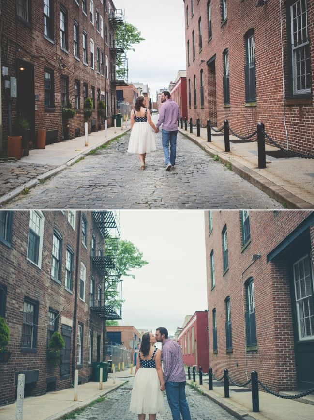Old City Philadelphia Engagement Photos || Emily + Zach || BG Productions || www.bgproonline.com