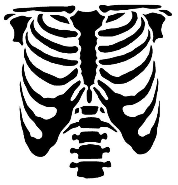 Rib Cage Stencil by WonderStrumpet on Etsy