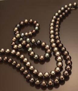 Chocolate Pearl Necklace ... jewelry gems strand