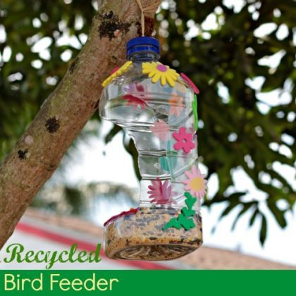 Homemade Bird Feeder Using Recycled Bottle - perfect for Earth Day!
