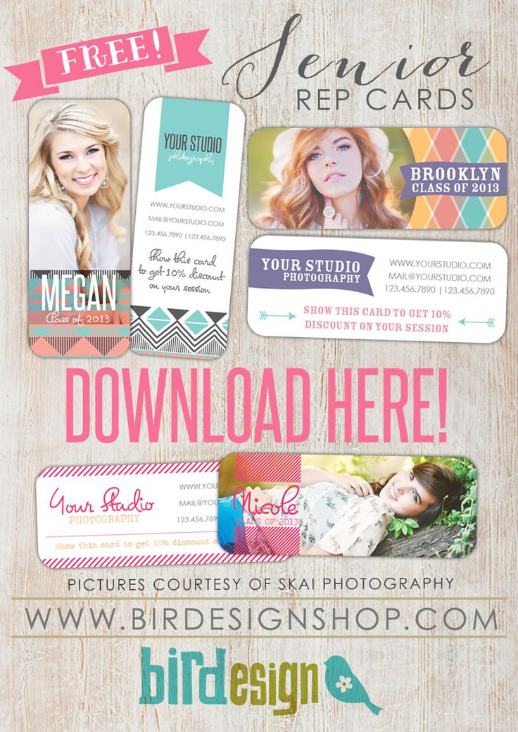 Download free senior templates for photographers With some tweaking, these will be great for boudoir reps!
