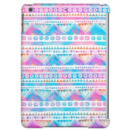 Tribal Times Pink Blue Designer iPad Case - trendy gifts cool gift ideas customize