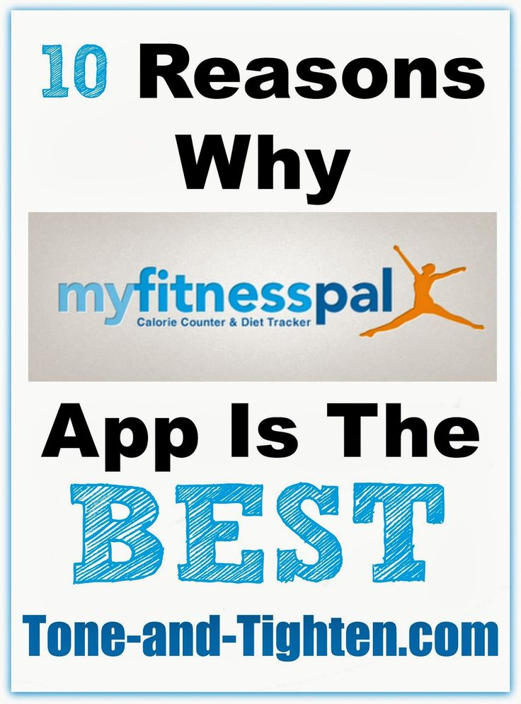 10 Reasons Why My Fitness Pal App is the best from Tone-and-Tighten.com #fitness #workout