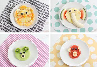 Animal-Shaped Fruit Snacks Ideas