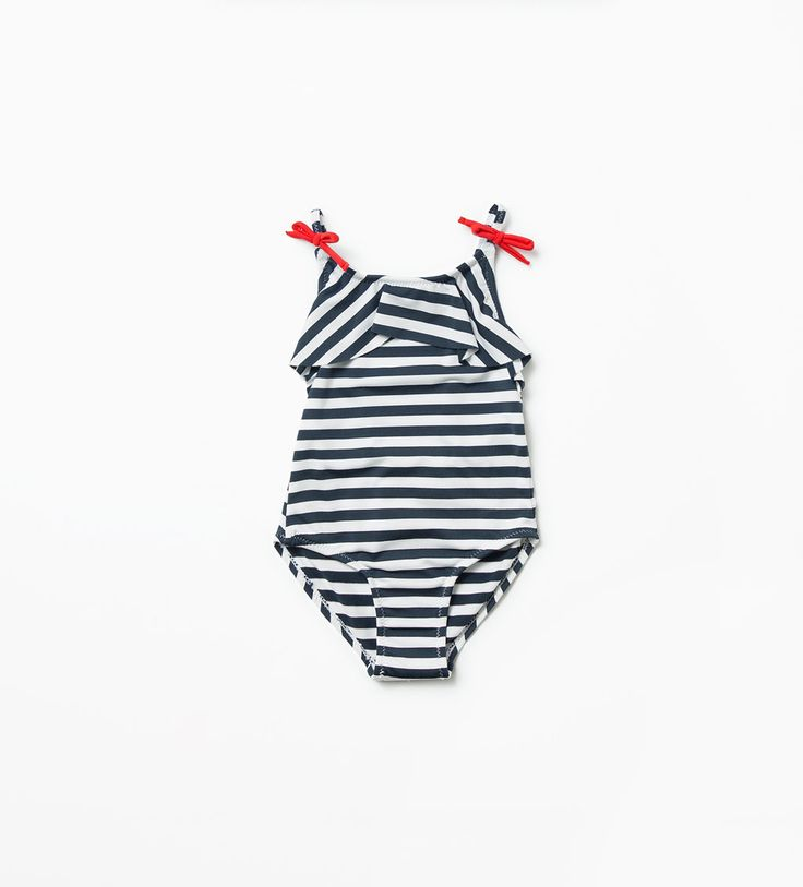Image 1 of STRIPED SWIMSUIT from Zara