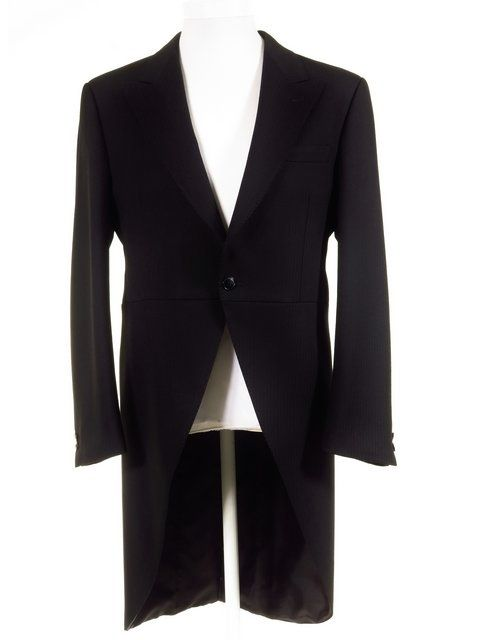 Ex-Hire Royal Ascot Morning Dress Tailcoat - Mens Black Morning Coat - All Sizes £59 - Quality outfits for Royal Ascot at Tweedmans Vintage.