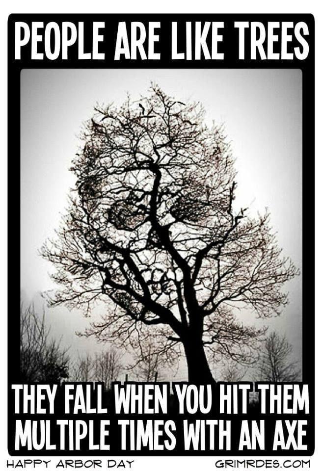 People Are Like Trees Dark Humor Jokes Dark Humour Memes Dark Jokes