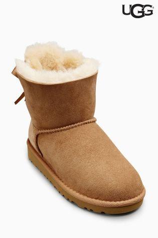 Chestnut UGG® Mini Bailey Bow Boot