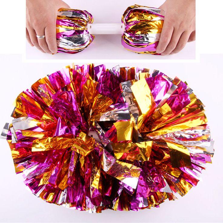 160 g/pc, 12 unids/lote, Cheerleading Pom Poms Bola de la Flor Juegos de Competición Deportiva Partido Espectáculo de Danza Mano Flores de porristas pompones