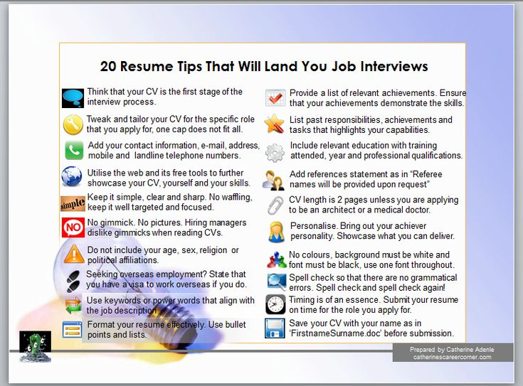OK, usually your CV has about 15 seconds to make an immense first impression on any hiring manager. So, to land job interviews, you need to look at your core resume or CV. Answer truthfully, can it survive the quick scan and the drill of passing other applicants based on its content, structure and presentation? If not, these 20 CV tips are for you.