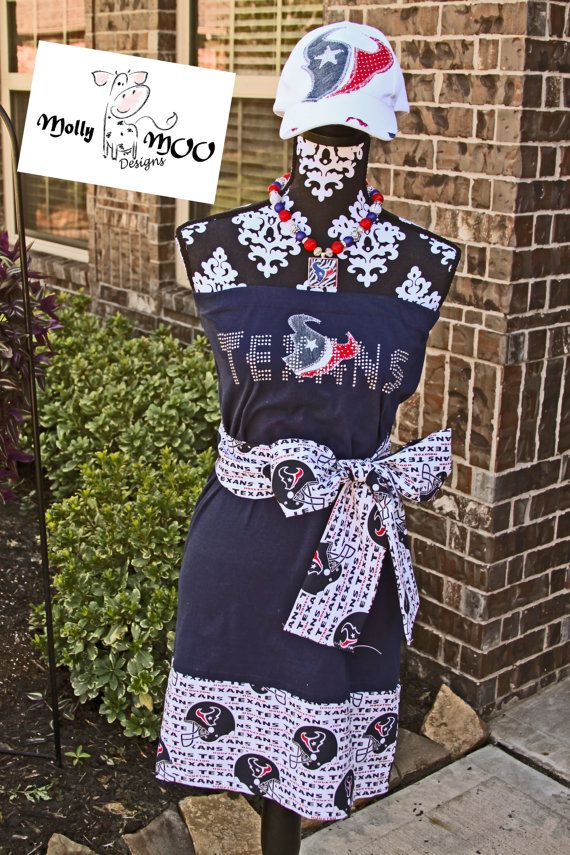 Custom Houston Texans Game Day dress by MollyMooDesigns4u on Etsy, $65.00