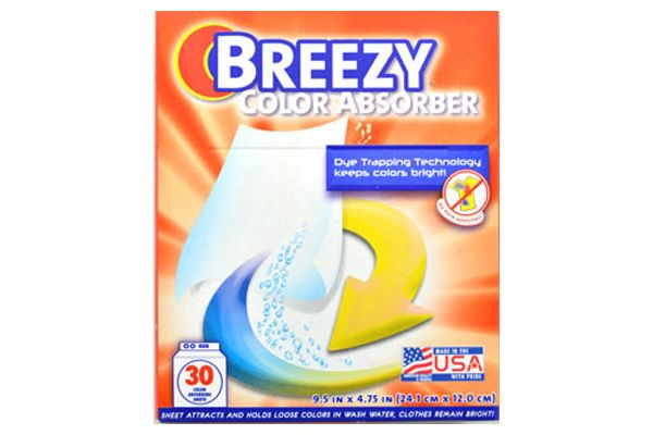 Breezy Color Absorber Sheets - 30 Sheets The sheets are made from powerful fibers that soak up excess dyes in water. Once the dyes are absorbed-the sheet locks them away protecting your clothes from being stained and damaged. Colors are prevented from running or bleeding onto clothes. Saves time by reducing the need for sorting. $12.99CAD #Breezy #Dye #CraftDeVille