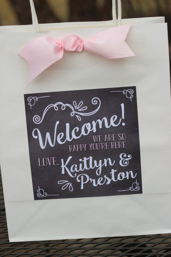Vintage chalkboard welcomehotel weddingbridal adhesive labels by