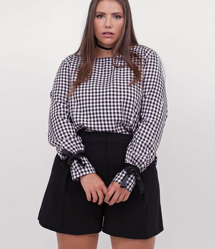 Blusa Xadrez Curve & Plus Size - Lojas Renner