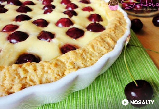 Vaníliás cseresznyés pite
