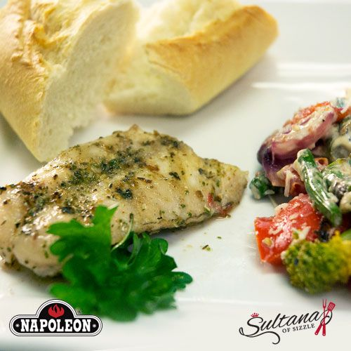 Buttery Grilled Snapper - With Grilled Veggie Salad