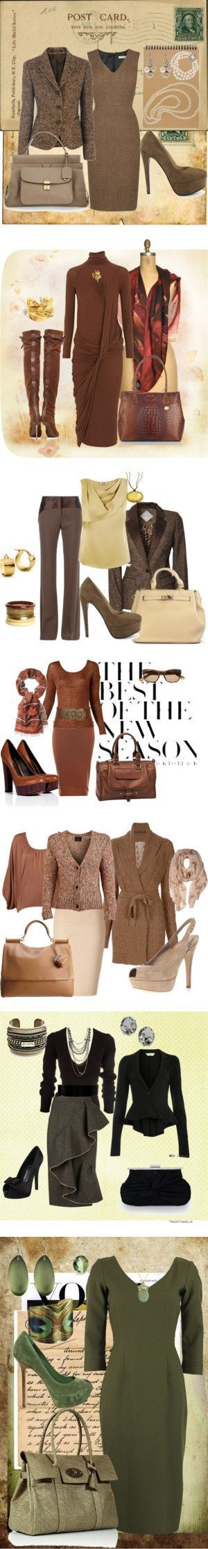 Great fall wardrobe for work and not too casual events. Very nice color palate …