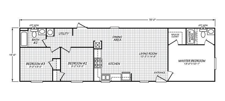 Velocity Model 16563V manufactured home floor plan or modular floor plans