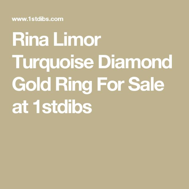 Rina Limor Turquoise Diamond Gold Ring For Sale at 1stdibs