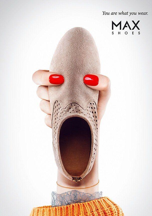 """agence Jung von Matt / Max shoes """"you are what you wear"""" L'accroche et le visuel coïncident pour une meilleure compréhension"""