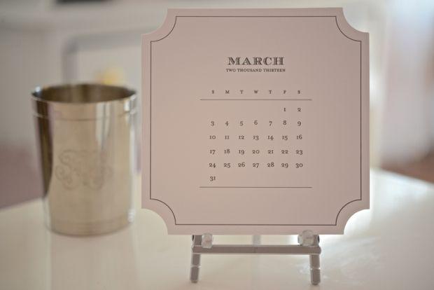Sugar Paper Roosevelt Desk Calendar   ♥  via @Emily Schoenfeld Schuman / Cupcakes and Cashmere