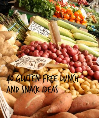 40 Gluten Free Lunch and Snack Ideas